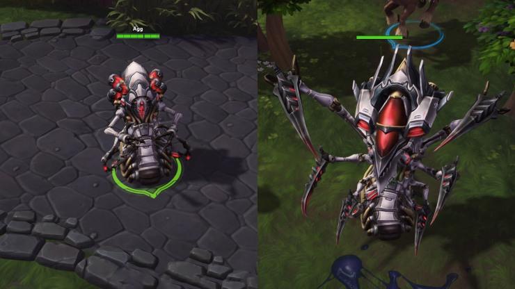 Abathur-Monstrosity Exo skin side-by-side